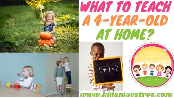 what to teach a 4-year-old at home